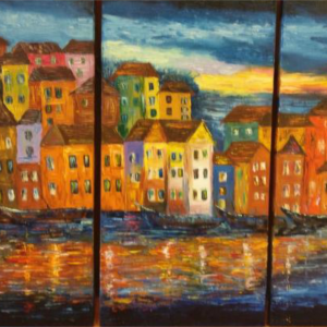 Canals of Venice Painting